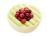 Honeydew Melon and Grapes with Clipping Path