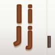 Alphabet Leather Skin Texture. vector illustration.