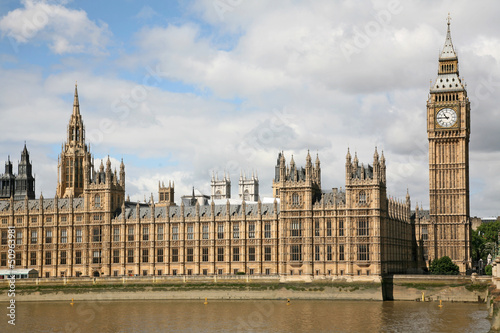 London, England, Parliament Building and  Big Ben