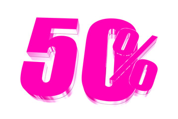 50 percent discount on three-dimensional