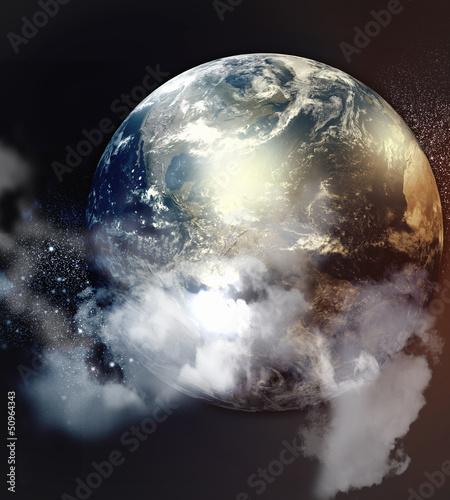 Obraz planet w przestrzeni kosmicznej