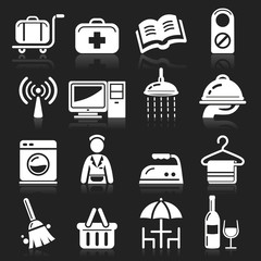 Hotel icons set4. vector eps 10