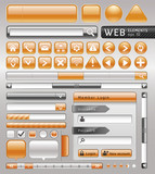 Blank buttons for website and app. Vector illustration