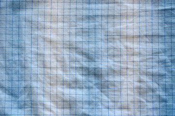 square dotted fabric overflowing blue white color