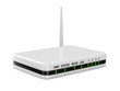 router on white background. Isolated 3D image