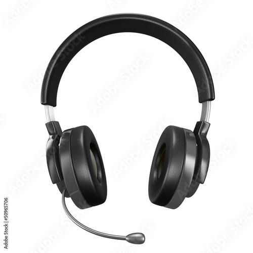 Headphone on white background. Isolated 3D image