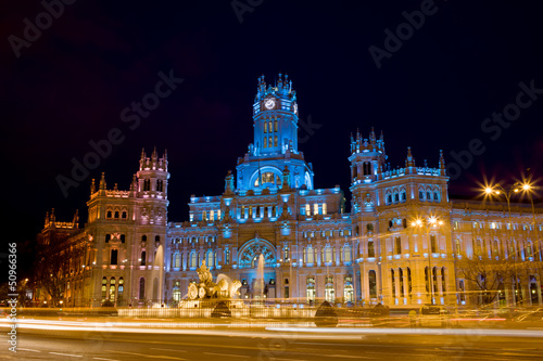 Plaza de Cibeles at Night in Madrid
