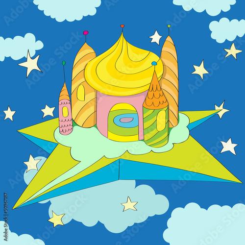 Papiers peints Chateau castle on a star