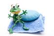Blaue Seife mit Frosch
