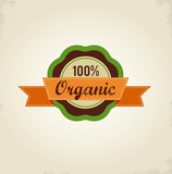 Organic food label, tag and graphi element poster