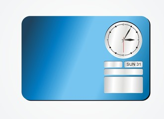 clock decorations - blue