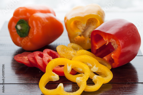 pepper red, yellow and orange
