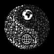 Social media yin-yang symbol