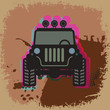 Off-road abstract, vector illustration