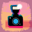 Abstract camera background, vector illustration