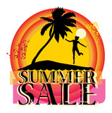 Summer sale abstract, vector illustration