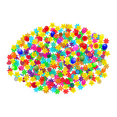 Assorted flower with balloons