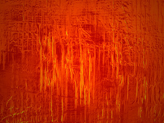 Fiery orange aluminum aka aluminiun tin foil background texture