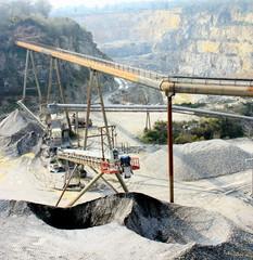 carrière d'extraction de pierre,sable