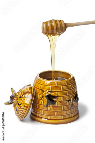 Classic ceramic honey pot