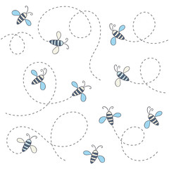 Cute bee pattern