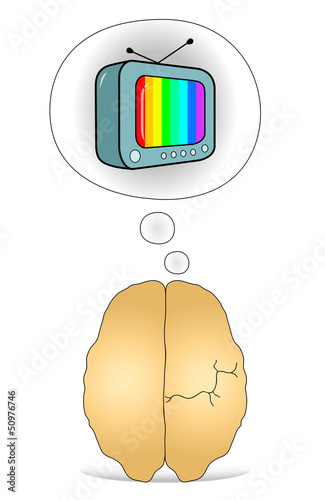 Brain to think about the TV