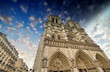 Paris. Beautiful view of Notre Dame Cathedral