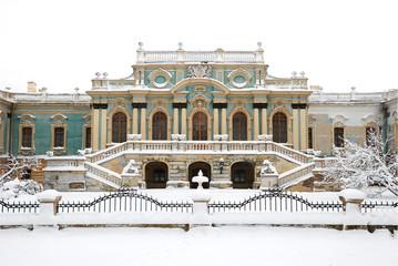 Мариинский(царский) дворец в Киеве. Зима.