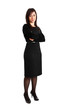 Full length businesswoman with folded arms