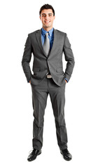 Full length young businessman