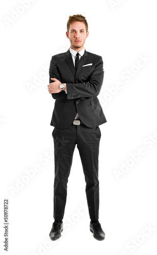 Full lenght businessman isolated on white