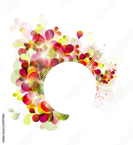 Foto op Canvas Bloemen vrouw spring abstract background