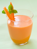 Fresh carrot smoothie