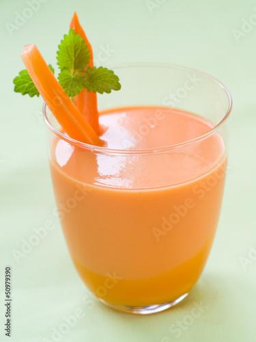 Fresh carrot smoothie