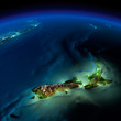 Night Earth. Pacific - New Zealand - 50979978