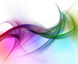 Abstract gentle color waves on white background