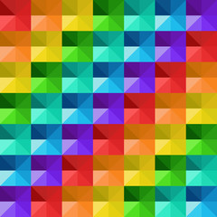 Vector abstract geometric colorful triangles pattern.