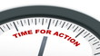 Ticking Time for Action Clock