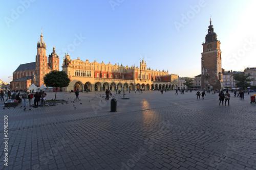 Piazza centrale di Cracovia
