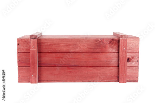 Wooden box red