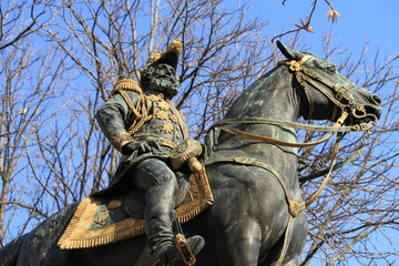 Statue of Charles d'Este-Guelph duke of Brunswick, Geneva, Switz