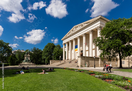 The Hungarian National Museum and the Gardens in Budapest, Hunga