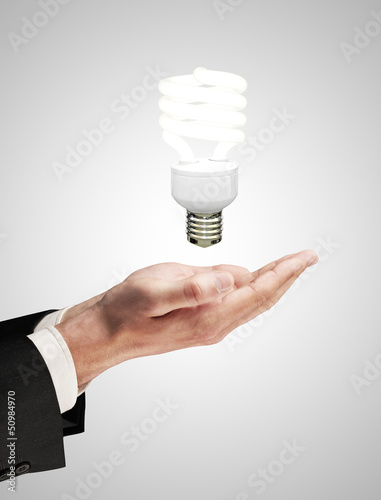 hand with lamp