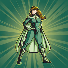 Recycle Hero Female (with a cape)
