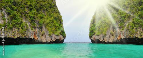 Leinwandbild Motiv Tropical island in the open sea