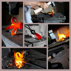 Incandescent element in the smithy