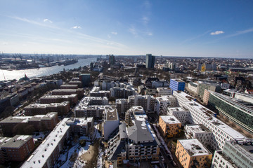 Panorama view of HAmburg