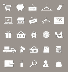 shopping and electronic commerce web icons set