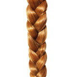 brown hair braid, plait isolated, hair care