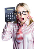 Businesswoman with calculator